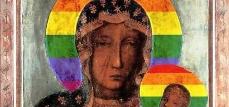 Poolse LGBTQ-activisten die afbeelding van Maria aanpasten met regenboogkleuren vrijgesproken