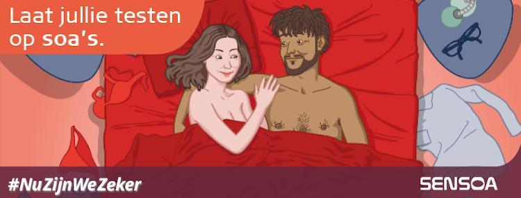 Nieuwe Sensoa-campagne moedigt soa-test aan bij start nieuwe relatie