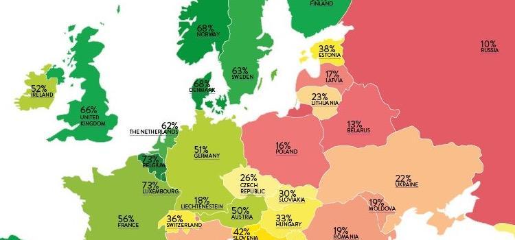 Belgie op tweede plaats in Rainbow Europe Index