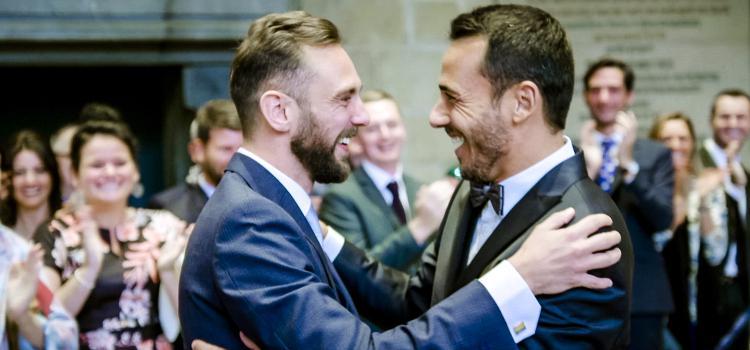 Christophe & Nick maken zich op om te trouwen in Blind getrouwd