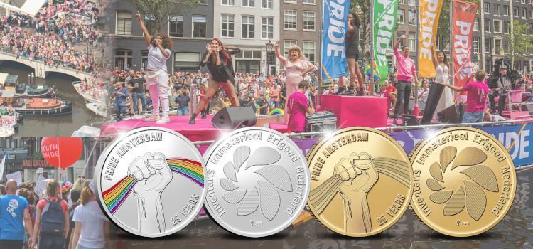 Amsterdam Pride krijgt eigen jubileummunt voor 25ste verjaardag