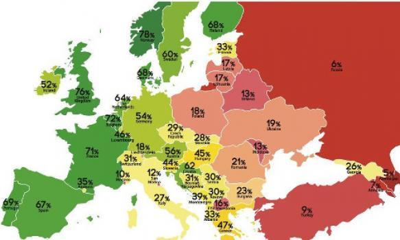 België zakt naar vierde plaats op Europese ranking van holebi- en transgenderrechten