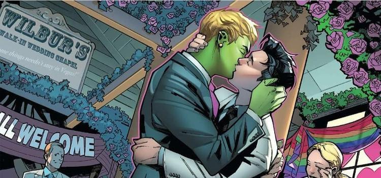 Voor het eerst twee homoseksuele Marvel superhelden met elkaar getrouwd