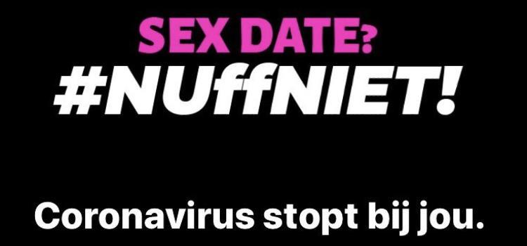 Campagne nuffniet! tegen seksdates tijdens coronacrisis